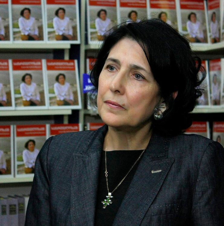 In 2018, Georgia got its first female president, Salomé Zourabichvili (born 1952). Photo from 2013.