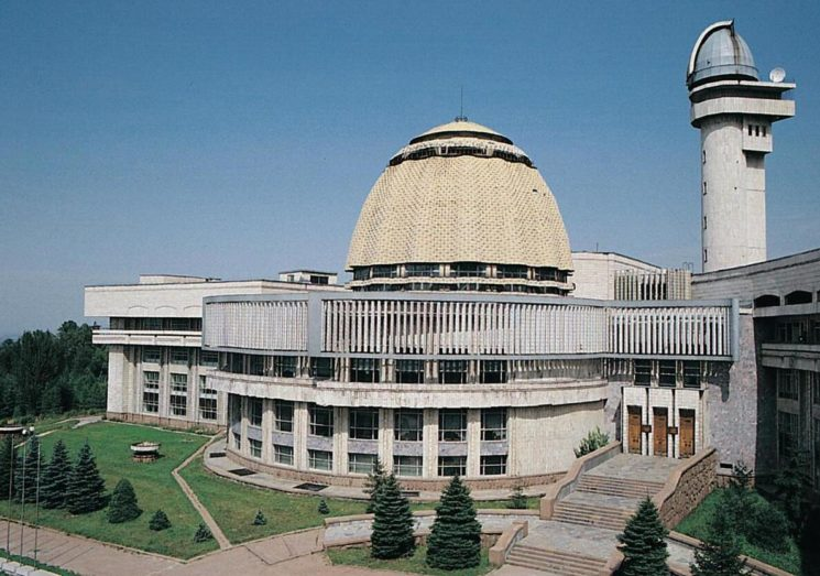 The pioneers' palace in Almaty, erected in 1983.