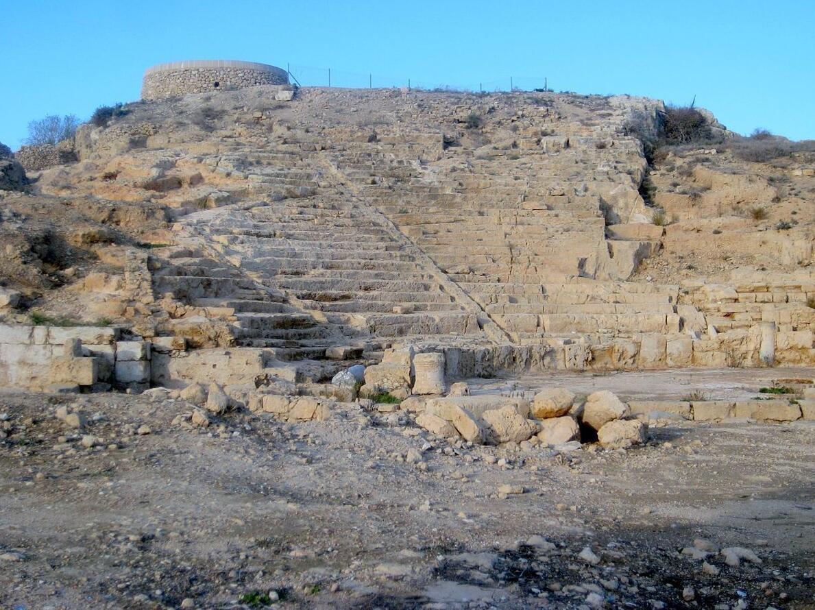 Remains of a Roman theater in Paphos
