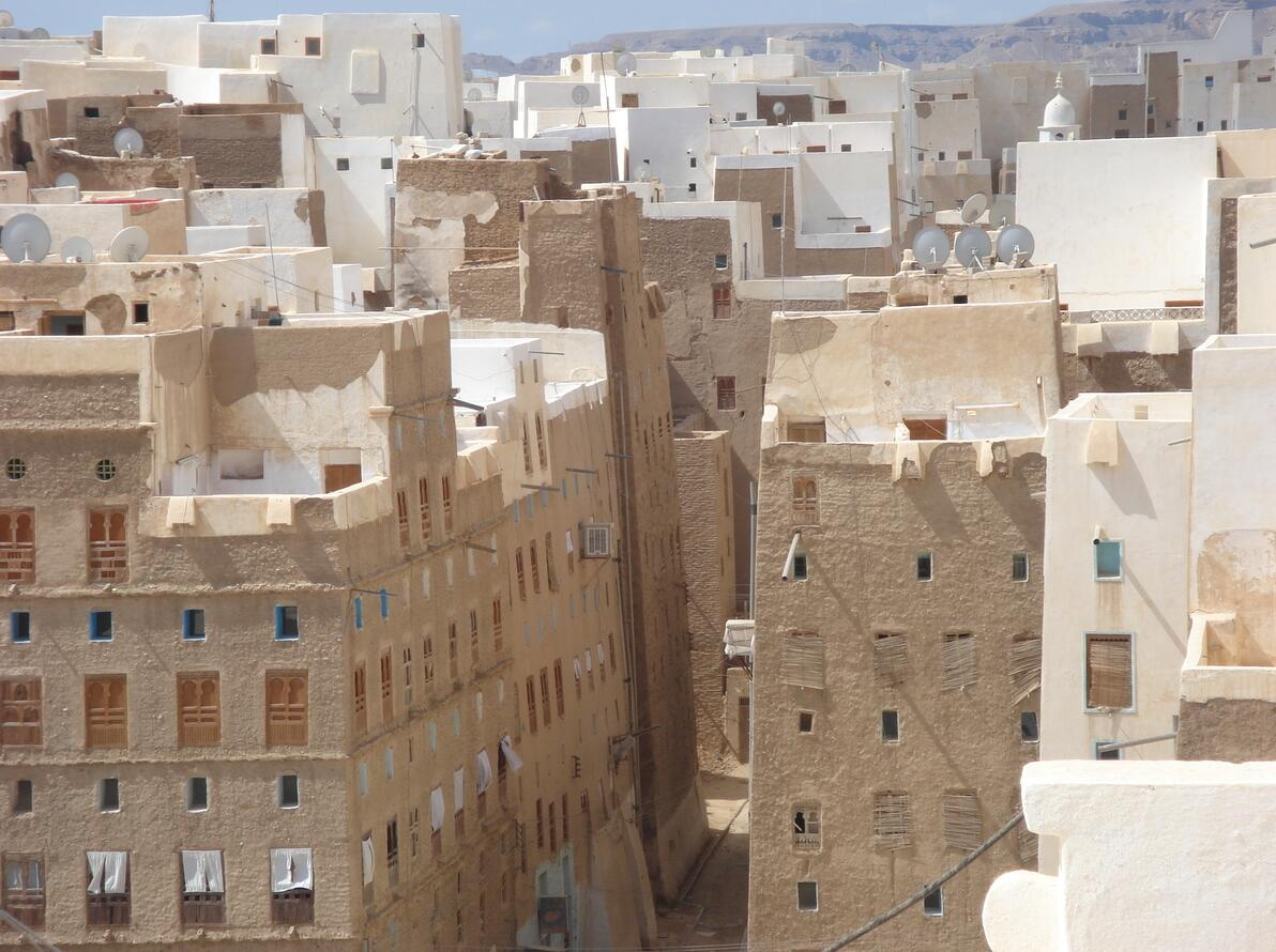 In Shibam there are more than 500 tower houses