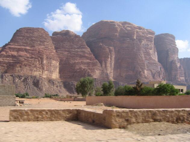 From the Wadi Rum desert area in southern Jordan