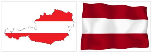 Austria Flag and Map