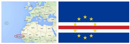Cape Verde Flag and Map