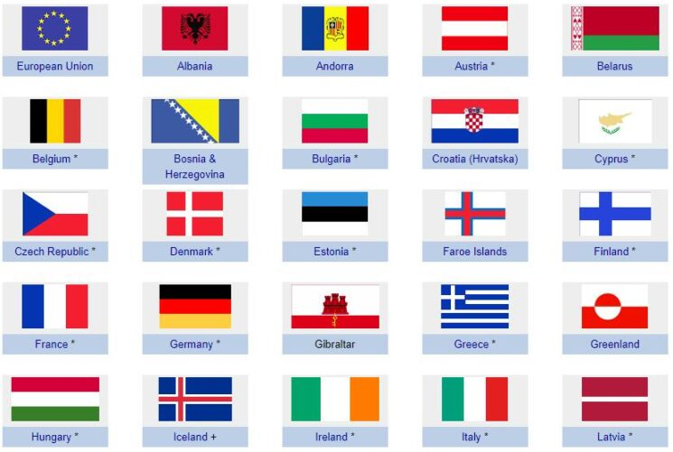 Flags of Europe 1