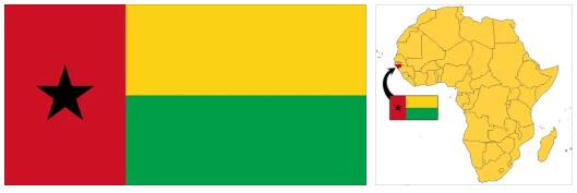 Guinea Bissau Flag and Map