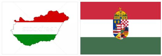 Hungary Flag and Map
