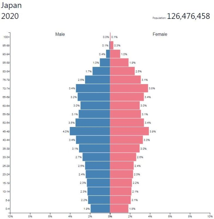 Japan Population Pyramid