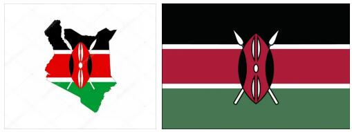 Kenya Flag and Map