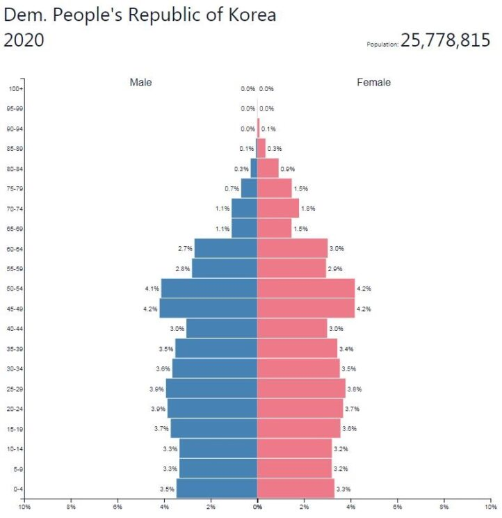 North Korea Population Pyramid