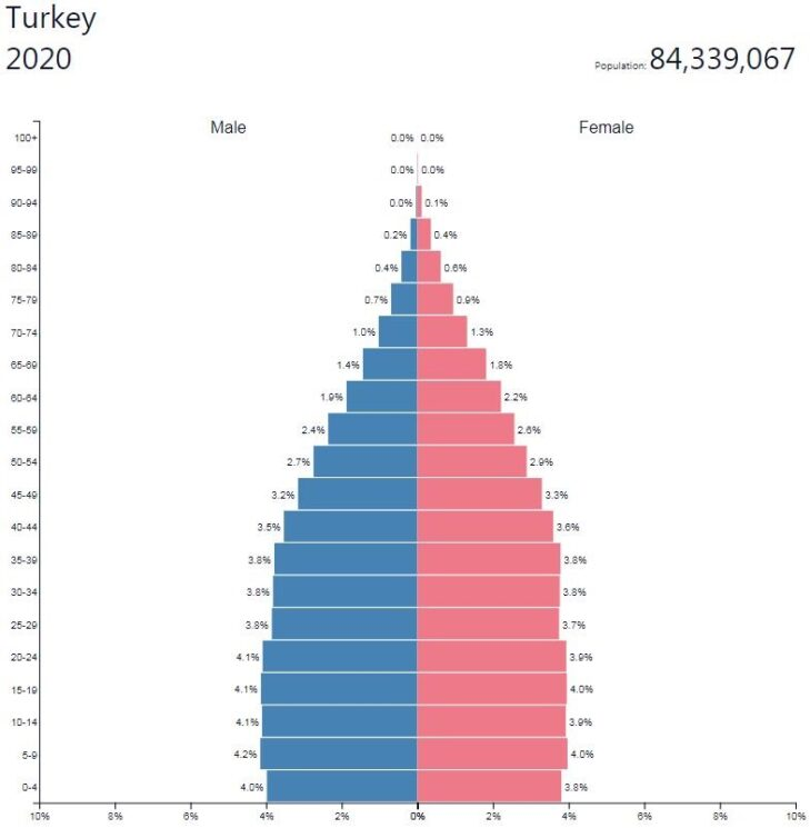 Turkey Population Pyramid