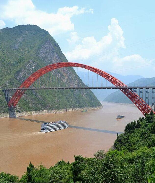 Bridge over the Changjiang near Wushan China